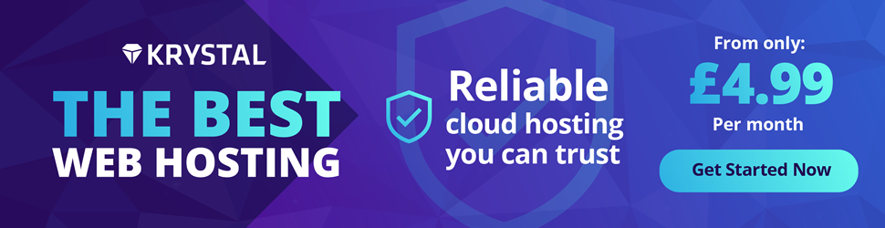 Krystal Hosting provides reliable cloud hosting you can trust, starting at £4.99 a month.